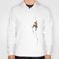 climbing Hoodies featuring Climbing: Solitude by Brian DeYoung Illustration