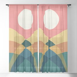 Rolling hills Sheer Curtain