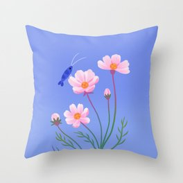 Cosmos and shrimp Throw Pillow