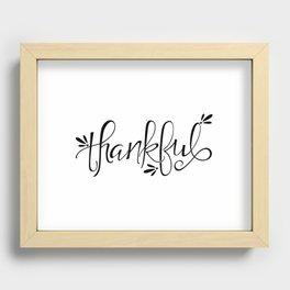 Thankful Recessed Framed Print