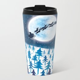 Santa Moon Metal Travel Mug