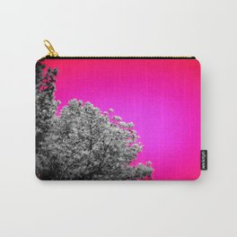 Gray Trees Hot Pink Sky Carry-All Pouch