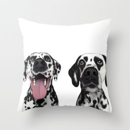 Dalmatians Throw Pillow