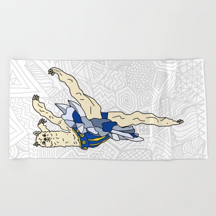 Alpaca Ballerina Tutu Beach Towel
