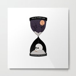 Time Forever Favours The Young Metal Print