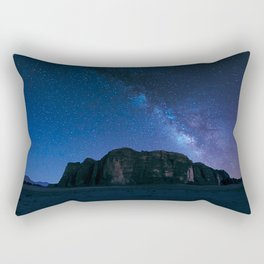 Milky Way Over Wadi Rum Rectangular Pillow