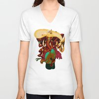 ganesh V-neck T-shirts featuring Ganesh by marekolani