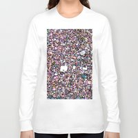 maps Long Sleeve T-shirts featuring Funky Maps, SAN FRANCISCO by MehrFarbeimLeben