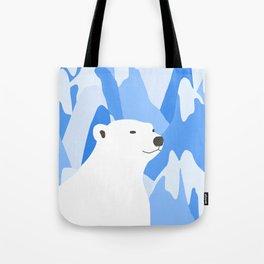 Polar Bear In The Cold Design Tote Bag