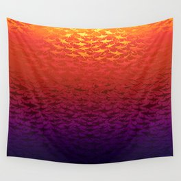Sharks At Sunset Wall Tapestry