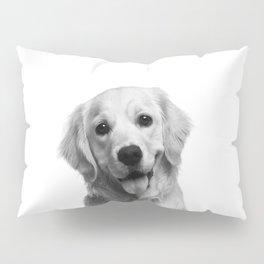 Cute Golden Retriever Pillow Sham
