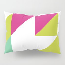 Hot Pink and Neon Chartreuse Color Block Pillow Sham