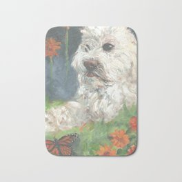 Astro with Floating Flowers Bath Mat
