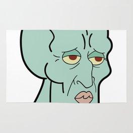Handsome Squidward funny spongebob meme sticker shirt Rug