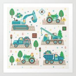 Truck monsters Art Print