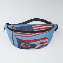 United States and Ohio Flags Fanny Pack