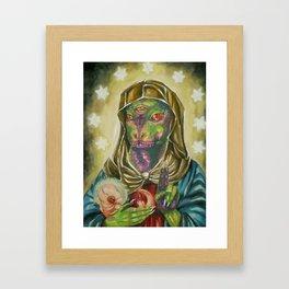 Blessed Reptilian Virgin and Child Framed Art Print