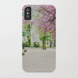 french cherry blossom iPhone Case