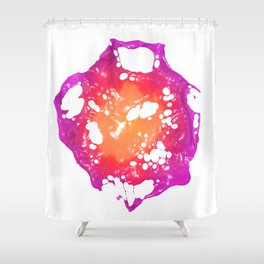 Pink and Orange Latex Flower Shower Curtain