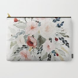 Loose Watercolor Bouquet Carry-All Pouch