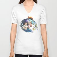 aladdin V-neck T-shirts featuring Aladdin & Jasmine by FarbCafé
