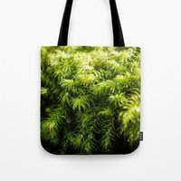 moss Tote Bags featuring Moss by Michelle McConnell