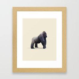 Geometric Silverback Gorilla - Modern Animal Art Framed Art Print