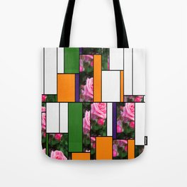 Pink Roses in Anzures 1 Art Rectangles 5 Tote Bag