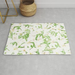 white lily pattern Rug