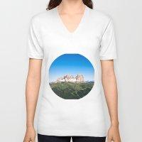 italian V-neck T-shirts featuring Italian Alps by GF Fine Art Photography