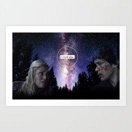 Bellamy and Clarke - I need you Art Print