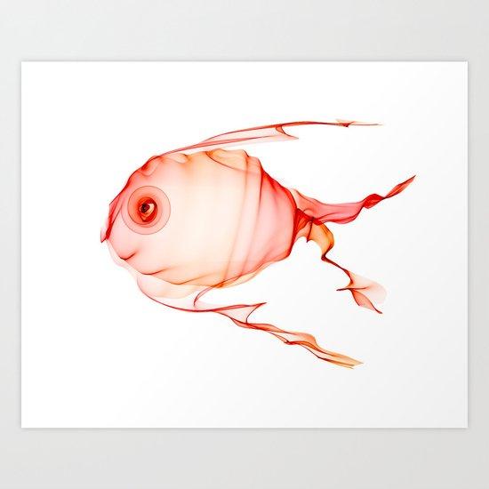 Happy Little Fish Art Print