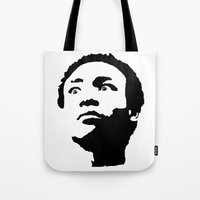 caleb troy Tote Bags featuring Greendale Community: Troy Barnes by Catherine