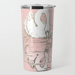 Beautiful Swan Reflection - Shell Pink Travel Mug