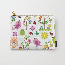 Summer birds pattern Carry-All Pouch