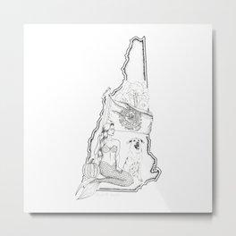 New Hampshire Mermaid Metal Print