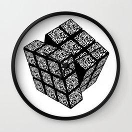 qr cube Wall Clock