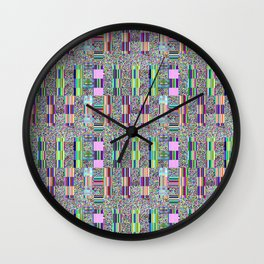 Glitch effect psychedelic background. Wall Clock