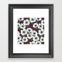 anemone floral // repeat pattern Framed Art Print