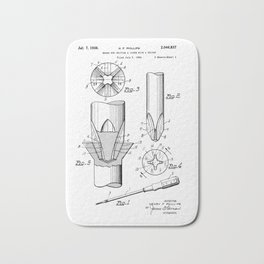 Phillips Screwdriver: Henry F. Phillips Screwdriver Patent Bath Mat