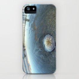 Chris Harsh Photos * A Low Tide Sand Dollar * Huntington Beach Pier  iPhone Case