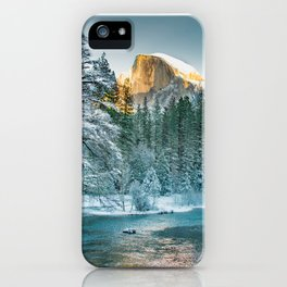 Half Dome In Winter iPhone Case