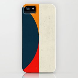 Geometric abstract / half circles iPhone Case