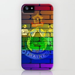 Rainbow Wall Maine iPhone Case