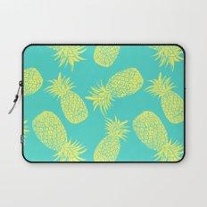 Pineapple Pattern - Turquoise & Lemon Laptop Sleeve