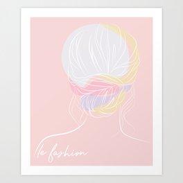 Chignon #1 Art Print