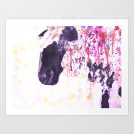 Pink Drips Sheep Art Print