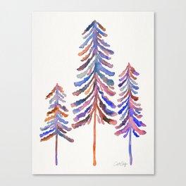Pine Trees – 90s Color Palette Canvas Print