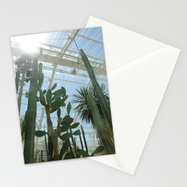 Cactus Glasshouse, down in the greenhouse with the cacti Stationery Cards