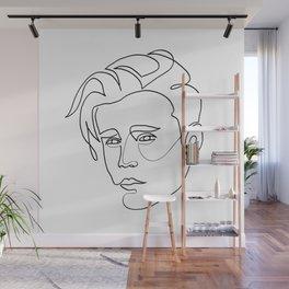 Justin - single line art Wall Mural